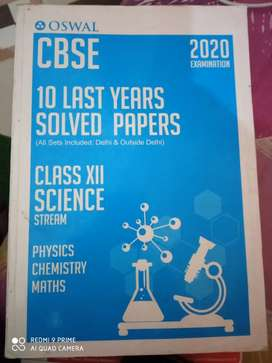 Oswal last 10 year solved paper 2020