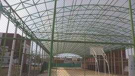 Fiber glass shades and canopies tensile fabric structures