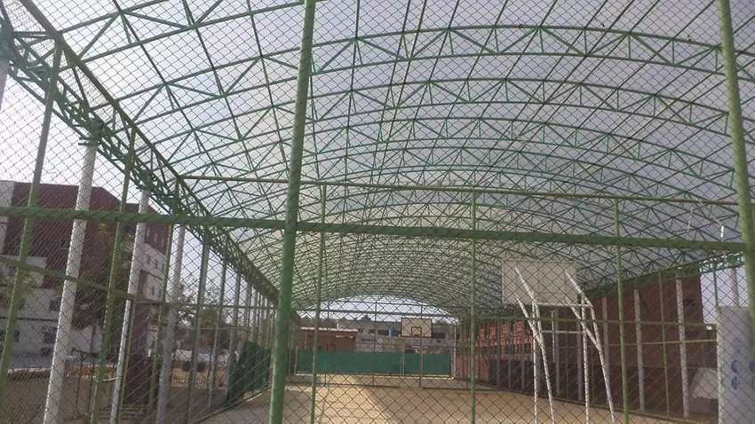 Fiber glass shades and canopies tensile fabric structures 0