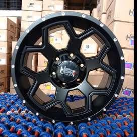 Velg Mobil Pajero Fortuner Izuzu Mux HSR TOMAGE R17 PULL BLACK