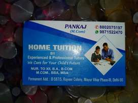 Home tutors in noida