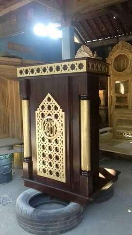mimbar masjid jati model baru