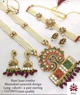 Women rani haar combo set