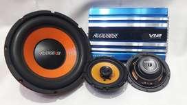 power audiobose 4chnl + soubwoper  spkr  + bok+ kabel+ pasang + garans