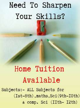 HOME TUITION Available !!