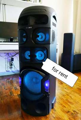 Only for rent Sony party speaker with karaoke