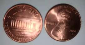 Barangkali minat 1 Cents Dolar USA buat souvenir saja