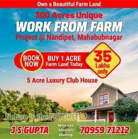 Buy Beautiful 1 Acre Farm Land  Rs.35 Lakhs (Club House Facility)