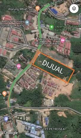 Tanah area strategis di jalan tambang PT KJA, Batu Kajang.