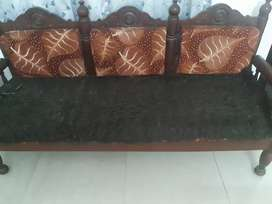 Wooden sofa set to sell