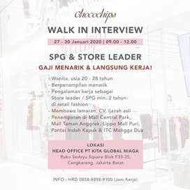 Walk In Interview - Chocochips Boutique (SPG & STORE LEADER)