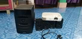 EPSON Hd Projector + ( FREE Sound system )