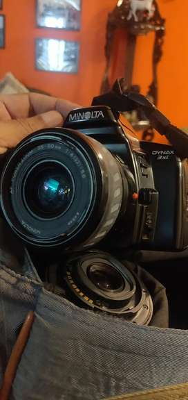 Minolta SLR Camera with 35-80mm and 80-200mm lens