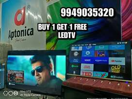 APTONICA ANDRIOD SMART LEDTV BUY 1 GET 1 FREE  IPS PANEL COD AVAILABLE
