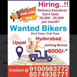 Delivery boys Required in Hubsiguda