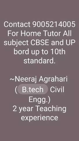 Home tutor and online class