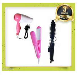 Hair Straightner, Hair Curler, Hair dryer + Combo Available