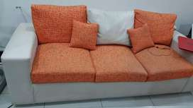 Home used 6 seater twin color sofa set