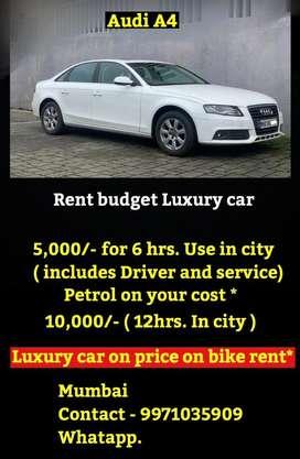 Rent luxury budget car