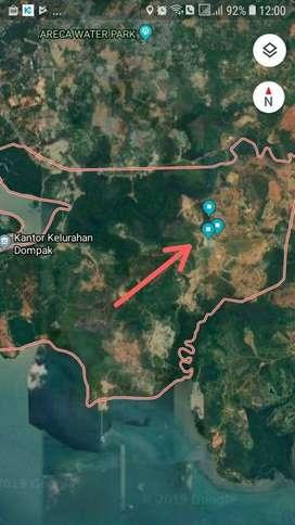 Dijual Tanah SHM 10 Hektar Dekat Batam Dompak Tanjung Pinang