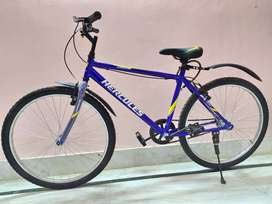 One day old, Hercules 26T cycle with helmet