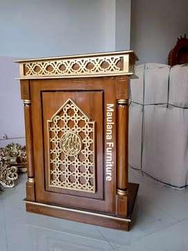Mimbar masjid podium jati ready stok