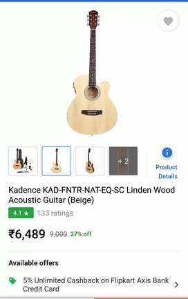 Kadence Frontier Series Acoustic Guitar With Equalizer