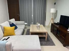 Meja Baru Ikea coffee table white stained oak effect ukuran 118*78