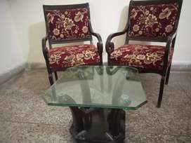 Bedroom chairs and table set