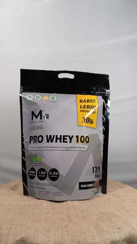 Suplemen Fitness Muscle FIRST PRO WHEY 10 lbs/4,5 kilo rasa coklat
