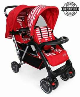 Babyhug Twin Stroller