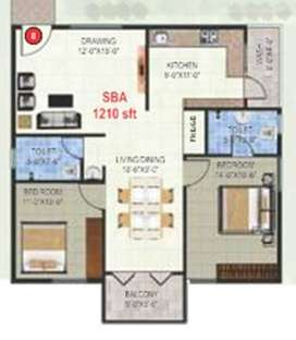 East facing 2 BHK Flat ranging from 1210 sqft in kr puram @ 65lacs