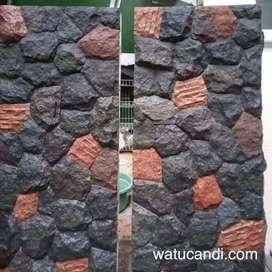Batu Alam Random Acak Lava Rock Hiasan Dinding Luar Bangunan.
