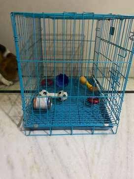 Munchos dog cage bue 18 inch small with removable tray
