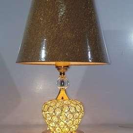 Lampu meja kristal variasi led dekorasi kamar - Putih ID35