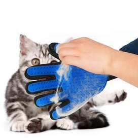 Sarung tangan sisir grooming anjing kucing true touch