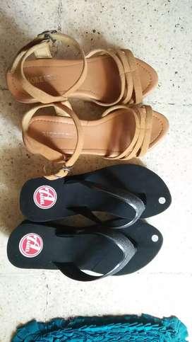 Sandal Wedges Coklat