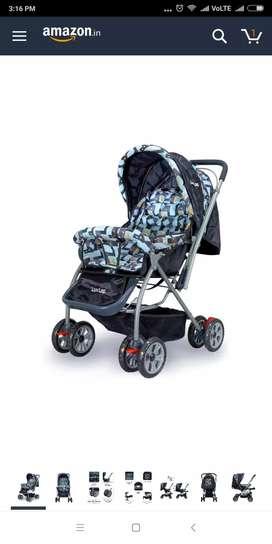 baby pram cum stroller