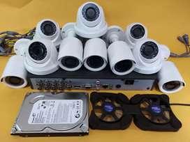Paket pasang 10 titik Camera CCTV 2 MP, Hdd 2 Tb, kabel 200 m