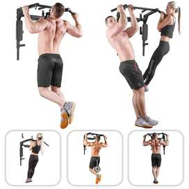 5in1 Portable Wall Mounted Chin Pull Up Bar Dip Gym of stiffness, sore