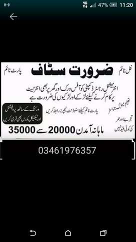 Male femal student and reacher required staff