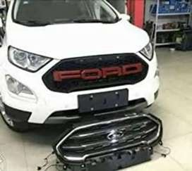 Ford ecosport 2018 front grill abs plastic with led