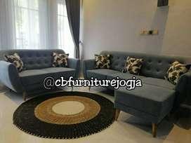 Sofaa  Retroo  32 seater +  Puff , tanpa meja