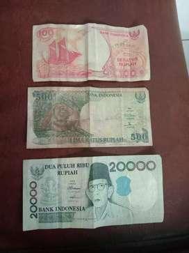 Uang kertas  tahun 92 dan 98