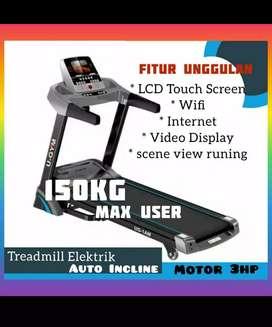 treadmill elektrik U gym 1 Am auto incline  alat fitnes