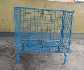 Bird cage..blue in colour