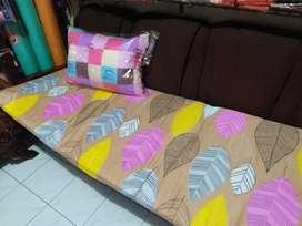 Paket Set Tas Sarung + Kasur Matras Dakron Busa Dacron Lipat + Bantal