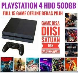 PS4 Fat 500GB BONUS 15 game Terbaik bebas pilih Terjangkau Murah