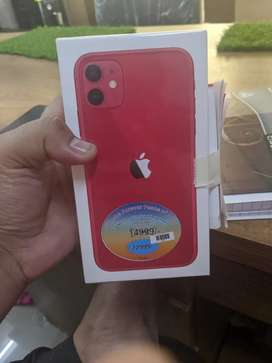 iPhone 11 64 gb red- 3 day active bill- Brand New sild