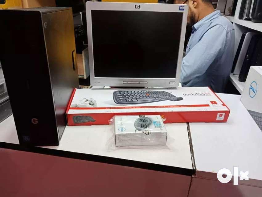 "Hp c2d pc, hp 15""led,2gb ram,160gb hdd ,key+mouse,only call 9888O82488 0"
